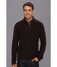 Royal Robbins Fireside Wool 1 4 Zip Sweater Petrified Oak Men's Sweater Black