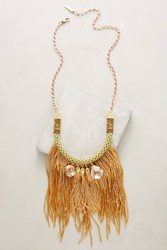 Anthropologie Golden Tassel Bib Necklace
