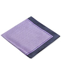 Ryan Seacrest Distinction Men's Carson Geo Pocket Square Only At Macy's Purple