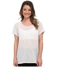 Lucy Girls Best Friend Burnout Short Sleeve Tee Dove Grey Women's Short Sleeve Pullover Gray