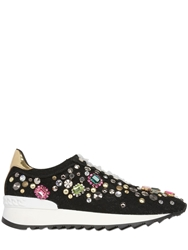 Casadei Limit.Ed Embellished Lace Sneakers Black