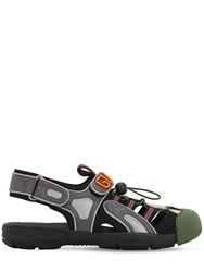 Gucci Leather Mesh And Rubber Sandals Array 0X58a3640