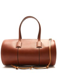 Loewe Barrel Medium Leather Tote Tan