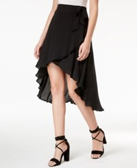 Beauty And The Beast Juniors' High Low Wrap Skirt Black