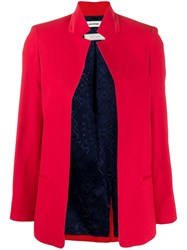 Zadig And Voltaire Volly Boxy Fit Blazer Red