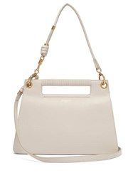 Givenchy The Whip Medium Cut Out Leather Cross Body Bag Light Grey