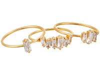 Gorjana Amara Ring Set White Cz Gold Ring