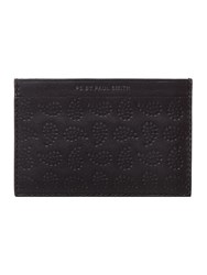 Paul Smith London Paisley Print Card Holder Black