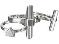 French Connection Dagger Midi Ring Set Silver Ring