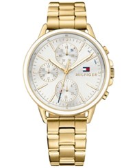 Tommy Hilfiger Women's Casey Gold Tone Bracelet Watch 40Mm White