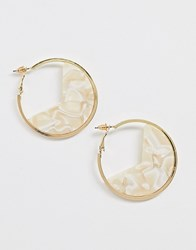 South Beach Gold With Resin Infill Hoop Earrings