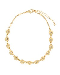 Fragments For Neiman Marcus Flower Crystal Choker Necklace Gold