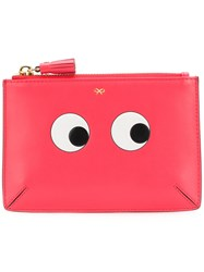 Anya Hindmarch Small Eyes Wallet Pink And Purple