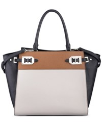 Nine West Gleam Team Satchel Black Multi