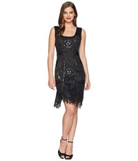 Unique Vintage Camille Beaded Flapper Black Dress