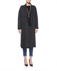 Eileen Fisher Boiled Wool Kimono Calf Length Coat Women's