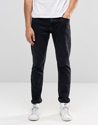 Pull And Bear Pullandbear Slim Jeans In Washed Black Black