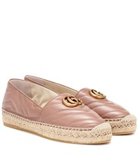 Gucci Matelasse Leather Espadrilles Pink