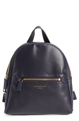 Longchamp 2.0 Small Leather Backpack Blue Navy