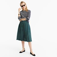 J.Crew Tall Double Pleated Midi Skirt In Shadowbox Print