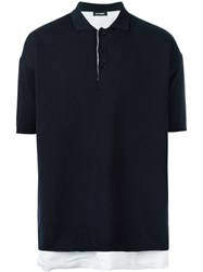 Raf Simons Layered Polo Shirt Blue
