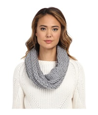 Ugg Sequoia Twisted Solid Knit Snood Grey Heather Scarves Gray
