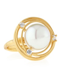 Majorica Pearl Concentric Ring Size 7