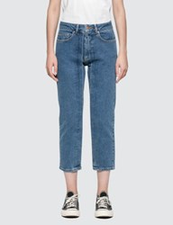 Aalto Cropped Straight Fit Jeans With Pleats