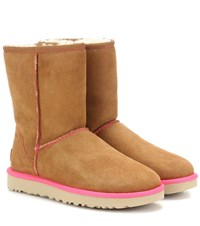 Ugg Classic Short Ii Suede Ankle Boots Brown