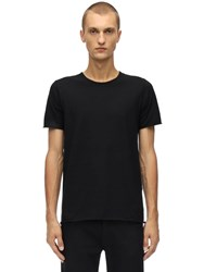 Giorgio Brato Uncut Cotton Jersey T Shirt Black
