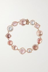 Larkspur And Hawk Sadie Small 18 Karat Rose Gold Dipped Quartz Bracelet One Size