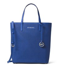 Hayley Large Perforated Leather Tote Bag