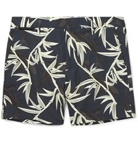Marc Jacobs Bamboo Print Cotton Shorts Blue