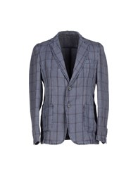 Hamaki Ho Suits And Jackets Blazers Men Slate Blue
