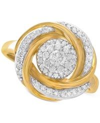 Wrapped In Love 14K Gold Diamond Knot Ring 1 2 Ct. T.W. Yellow Gold
