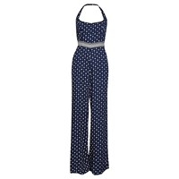 French Connection Castaway Drape Strappy Jumpsuit Indian Ocean