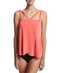 Magicsuit Michelle Solid Tankini Swim Top Pink