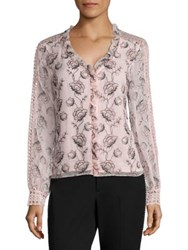 Nanette Lepore Botticelli Embroidered Blouse Petal