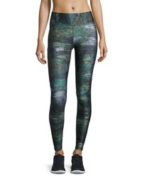 Terez Tall Band Heathered Camo Performance Leggings Multicolor Pattern Multi Pattern