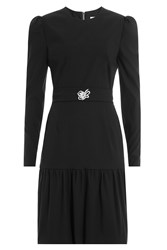 Preen By Thornton Bregazzi Dress With Embellished Brooch Black