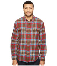 Filson Scout Shirt Brown Blue Cream Plaid Men's Clothing Red