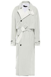 Haider Ackermann Woman Coated Cotton Blend Twill Trench Coat Light Green