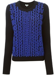 Kenzo Chenille Embroidered Sweater Black