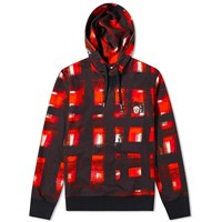 Alexander Mcqueen Checked Hoody Red