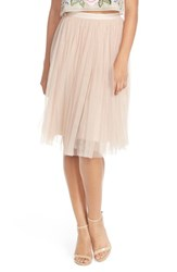 Women's Needle And Thread Tulle Midi Skirt Light Pink