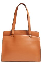 Lodis Audrey Collection Jana Leather Tote Brown Toffee