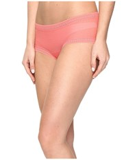 Ongossamer Gossamer Mesh Boyshort Fire Coral Women's Underwear Orange