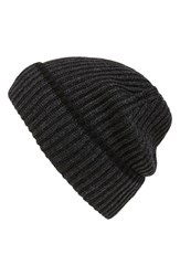 Men's Andrew Stewart Wool And Cashmere Beanie Grey Charcoal Black