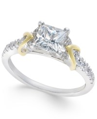 Macy's Certified Diamond Engagement Ring 1 1 2 Ct. T.W. In 18K White And Yellow Gold White Gold