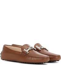 Tod's Gommino Driving Leather Loafers Brown